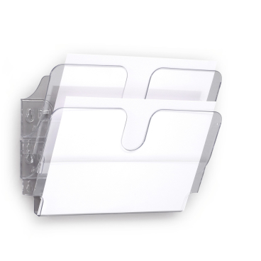 DURABLE FLEXIPLUS 2 A4 Prospektspender 1 Set = 2 Prospektspender, Farbe: transparent