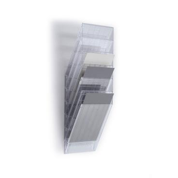 DURABLE FLEXIBOXX 6 A4 Prospektspender-Set 1 Set = 6 Prospektspender, Farbe: transparent
