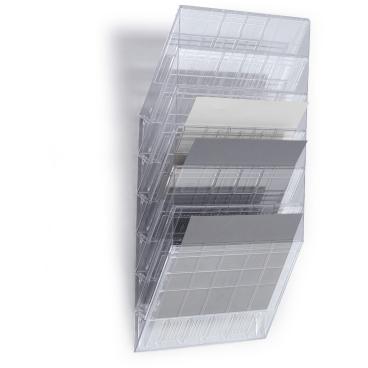 DURABLE FLEXIBOXX 6 A4 quer Prospektspender-Set 1 Set = 6 Prospektspender, Farbe: transparent