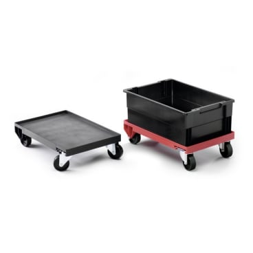 DURABLE Lagertrolley Maße: 400 x 160 x 600 mm, Farbe: rot