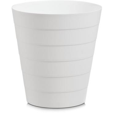 Zeller Abfalleimer, Kunststoff Fassungsvermögen: 8,8 Liter, Farbe: weiß