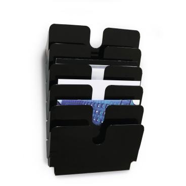 DURABLE Flexiplus 6 A4 Prospektspender 1 Set = 6 Prospektspender, Farbe: schwarz