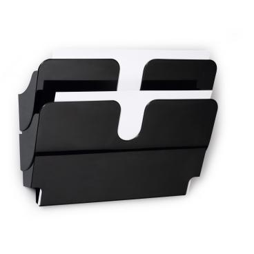 DURABLE FLEXIPLUS 2 A4 Prospektspender 1 Set = 2 Prospektspender, Farbe: schwarz