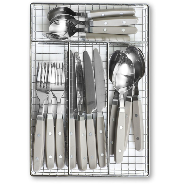 Zeller Besteck-Set 17-teilig, eckig Farbe: grau