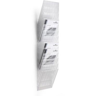 DURABLE FLEXIBOXX 12 A4 Prospektspender-Set 1 Set = 12 Prospektspender, Farbe: transparent