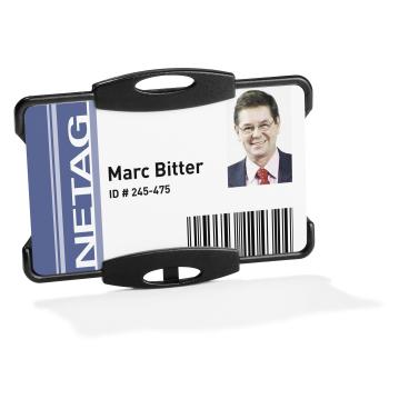 DURABLE Ausweishalter für einen Betriebsausweis 1 Packung = 10 Stück, Farbe: schwarz