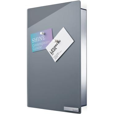 Blomus Schlüsselkasten / Glasmagnettafel VELIO Farbe: grau, Maße: 30 x 20 cm