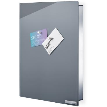 Blomus Schlüsselkasten / Glasmagnettafel VELIO Farbe: grau, Maße: 40 x 30 cm