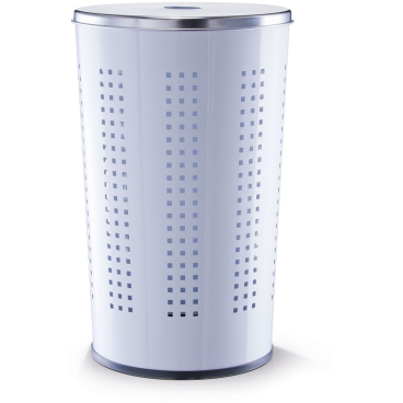Zeller Wäschesammler, Edelstahl Material: Metall/ Edelstahl, Farbe: weiß