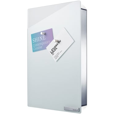 Blomus Schlüsselkasten / Glasmagnettafel VELIO Maße: H 5 x B 30 x L 20 cm