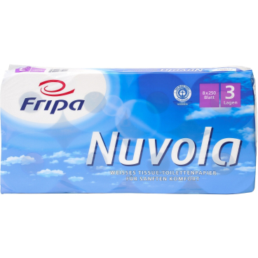 Fripa Nuvola Toilettenpapier, 3-lagig 1 Paket = 6 Packungen = 48 Rollen