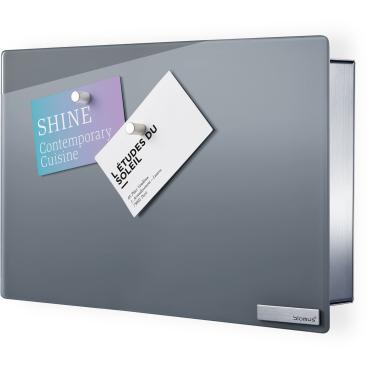 Blomus VELIO Schlüsselkasten / Glasmagnettafel  Farbe: grau, Maße: 20 x 30 cm