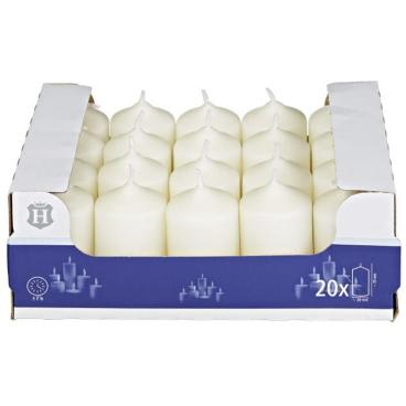 H-Line Stumpenkerzen Elfenbein 1 Karton = 20 Stück