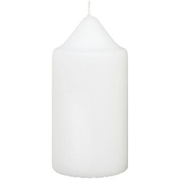 H-Line Stumpenkerzen 1 Karton = 4 Stück, Farbe: Weiß