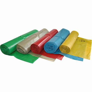 HYGOSTAR® Müllbeutel LDPE auf Rolle, 120 Liter, Typ 60 1 Karton = 6 Rollen à 50 Stück = 300 Stück, Farbe: transparent