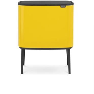 Brabantia Bo Touch Bin Abfalleimer, 11 + 23 Liter Farbe: Daisy Yellow
