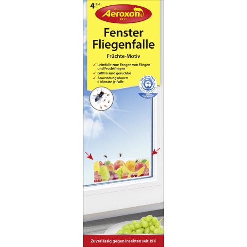 """Aeroxon® Fenster-Fliegenfalle """"Früchte"""""""