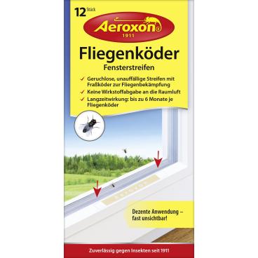 Aeroxon® Fliegenköder Fensterstreifen 1 Packung = 12 Stück