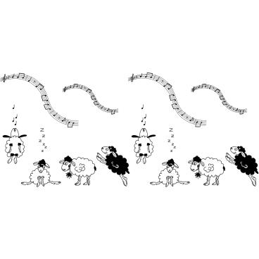 THIENEL Dental KIDS Servietten 1 Rolle = 100 Stück, Motiv: Schaf