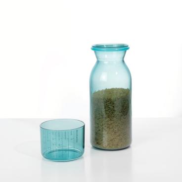 Brabantia Vorratsdose mit Messbecher, 1,3 l Farbe: Mint