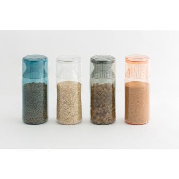 Brabantia Vorratsdose mit Messbecher, 1,3 l Farbe: Clay Pink