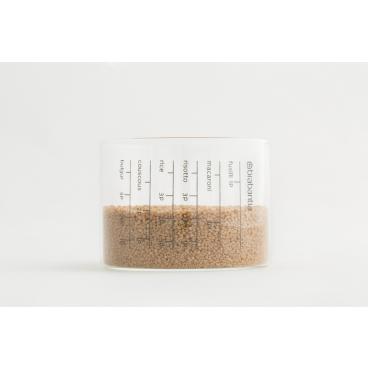 Brabantia Vorratsdose mit Messbecher, 1,3 l Farbe: Transparent