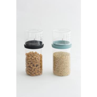 Brabantia Vorratsglas mit Messbecher, 1,0 Liter Farbe: Mint