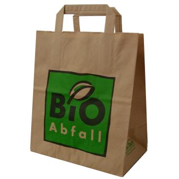 BIOMAT® Bioabfallsäcke aus Papier 8 l mit Henkel 1 Karton = 240 Beutel