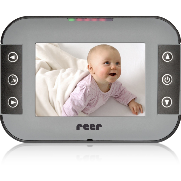 "reer Mix&Match Display XL - Elterneinheit für Video-Babyphone 1x Elterneinheit 5"" Display & festverbautem Akku, 1x USB-Kabel"