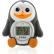 reer Digitales Badethermometer Pinguin 1x Badethermometer, 2x LR44 Batterien