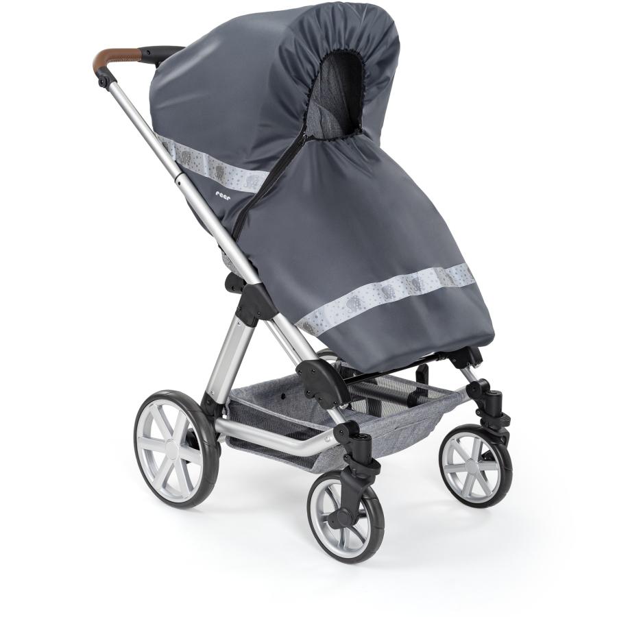 Reer Regenschutz für Kombi-Kinderwagen mit Reißverschluss Classic+