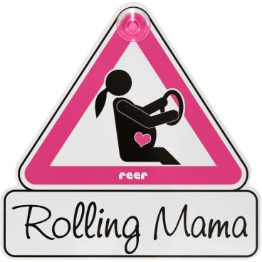 "reer MommyLine Autoschild ""Rolling Mama"" Maße: 15,5 x 15,5 cm"