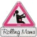 "reer MommyLine Autoschild ""Rolling Mama"" Maße: 15,5 x 15,5 cm"