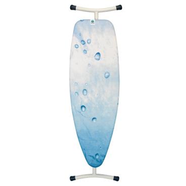 Brabantia Streckmetall Bügeltisch mit hitzebeständigem Silikonpad Maße: 135 x 45 cm, Ice Water, Größe D
