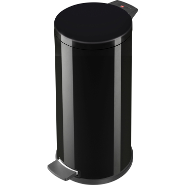 Hailo ProfiLine Solid L Tret-Abfallsammler, 18 l Stahlblech, tiefschwarz