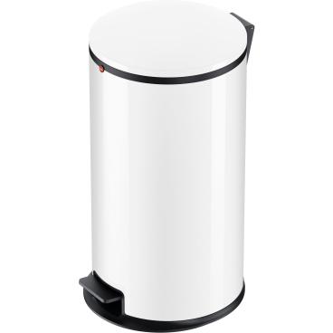 Hailo Pure L Tret-Abfallsammler, 25 l Stahlblech, weiß