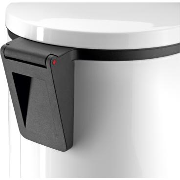 Hailo Pure XL Tret-Abfallsammler, 44 l Stahlblech, weiß