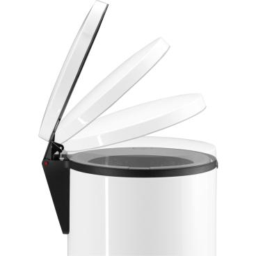 Hailo Pure XL Tret-Abfallsammler, 44 l Stahlblech, silber