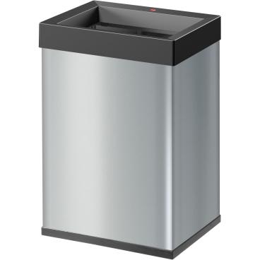 Hailo Big-Box Quick L Großraum-Abfallbox, 35 l Stahlblech, silber