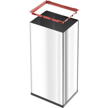 Hailo Big-Box Quick XL Großraum-Abfallbox, 52 l Stahlblech, weiß