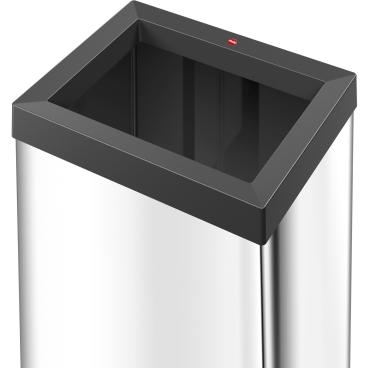 Hailo Big-Box Quick XL Großraum-Abfallbox, 52 l Stahlblech, schwarz