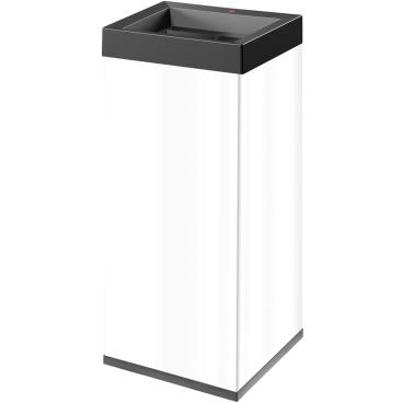 Hailo Big-Box Quick XXL Großraum-Abfallbox, 71 Liter Stahlblech, weiß