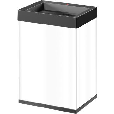 Hailo Big-Box Quick L Großraum-Abfallbox, 35 l Stahlblech, weiß