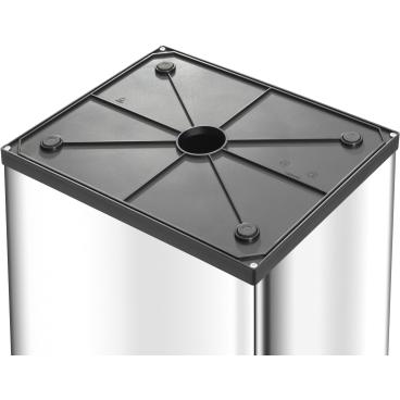 Hailo Big-Box Swing XXL Großraum-Abfallbox, 71 Liter Stahlblech, schwarz