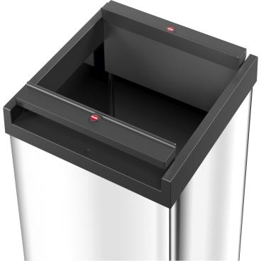 Hailo Big-Box Swing XXL Großraum-Abfallbox, 71 Liter Stahlblech, silber