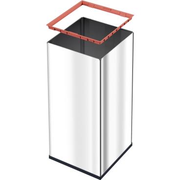 Hailo Big-Box Swing XXL Großraum-Abfallbox, 71 Liter Stahlblech, weiß