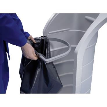 Hailo ProfiLine WSB-K plus Wertstoffbehälter, 120 l Farbe: Staubgrau, Einsatz: telegrau