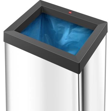 Hailo Big-Box Quick XL Großraum-Abfallbox, 52 l Stahlblech, silber