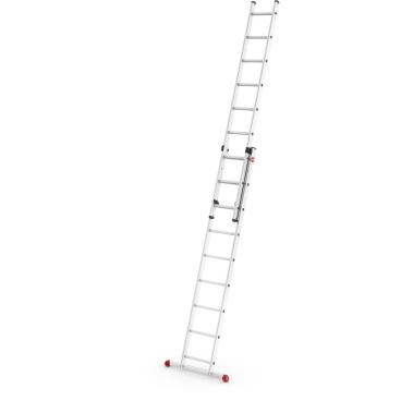 Hailo ProfiStep duo Alu-Schiebeleiter, 2-teilig 2 x 9 Sprossen, max. Arbeitshöhe: 515 cm