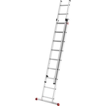Hailo S80 ProfiStep duo Alu-Schiebeleiter, 2-teilig 2 x 9 Sprossen, max. Arbeitshöhe: 515 cm